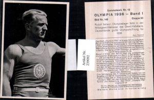 239092,Sammelbild Olympia 1936 Gruppe 53 Bild 148 Rudolf Ismayr Gewichtheber