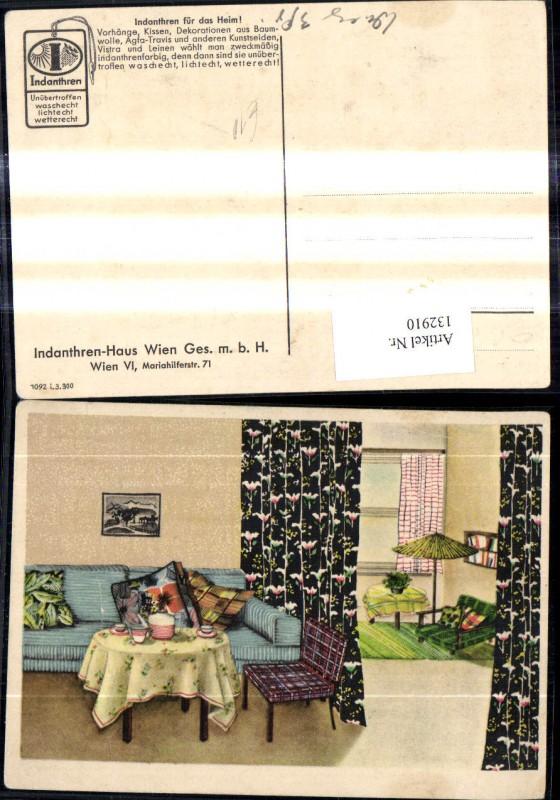 132910,Reklame Indanthren Stoff Stoffe Wien Wohnzimmer