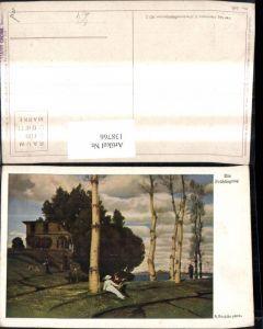 138766,Künstler Ak A. Böcklin Ein Frühlingstag