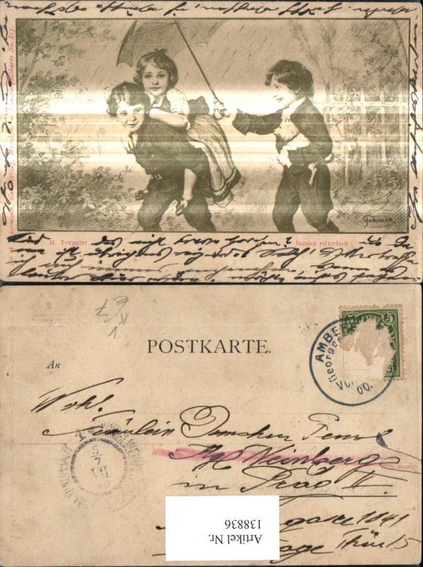 138836,Künstler Ak H. Torggler Immer ritterlich pub F A. Ackermann 815