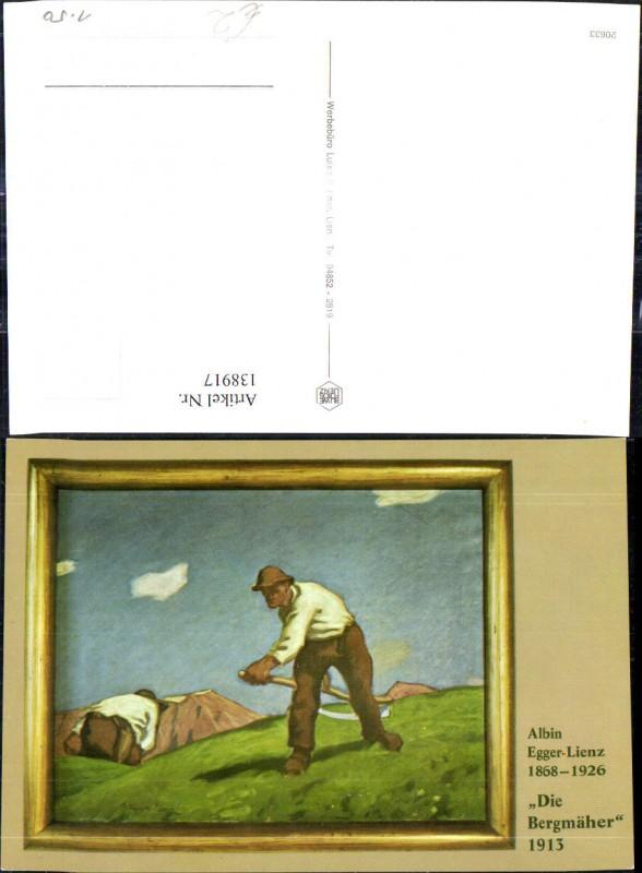 138917,Künstler Ak Albin Egger Lienz Die Bergmäher