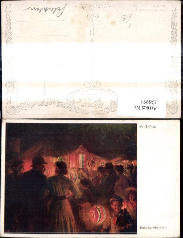 138954,Künstler Ak Hans Larwin Volksfest