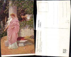139023,Künstler Ak Fr. Rösler Ligias Zeichenbekenntnis zum Christentum