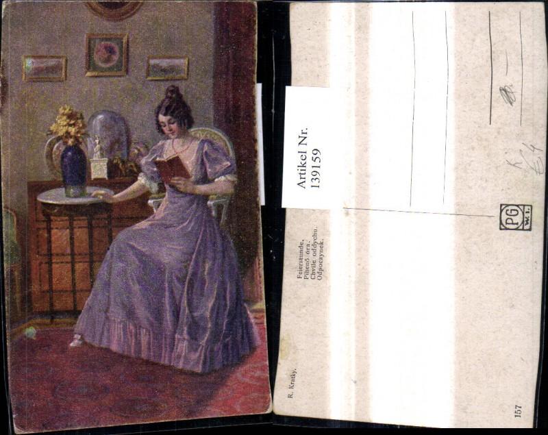 139159,Künstler Ak R. Kratky Feierstunde