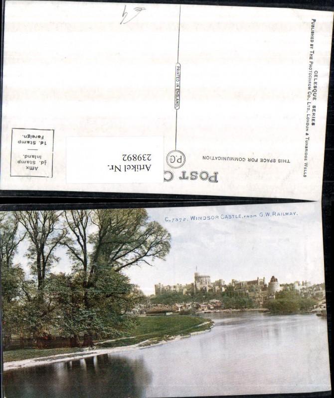 239892,Windsor Castle Schloss from G. W. Railway