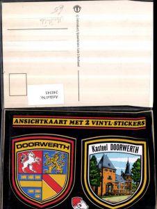240345,Abziehbilder Kasteel Doorwerth Schloss Wappen Mehrbildkarte