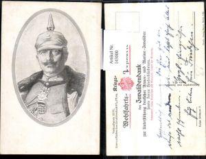 143000,Künstler Ak Kaiser Wilhelm II Portrait Pickelhaube Uniform Orden Adel Monarchie