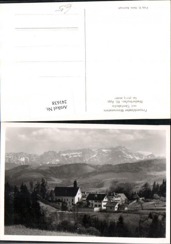 241638,Frauenkloster Wonnenstein m. Säntiskette in Niederteufen Kt Appenzell