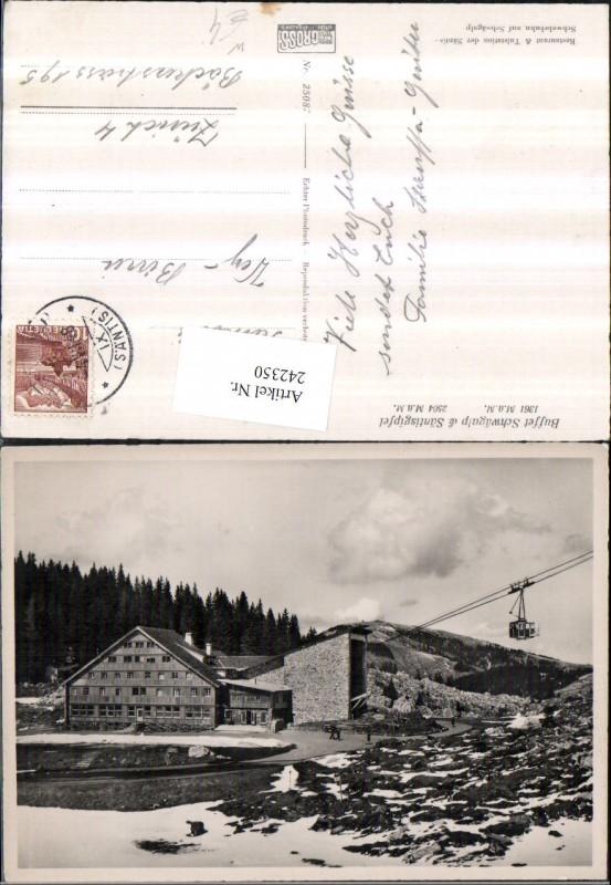 242350,Restaurant u. Talstation Schwebebahn Schwägalp u. Säntisgipfel b. Schwende Kt Appenzell