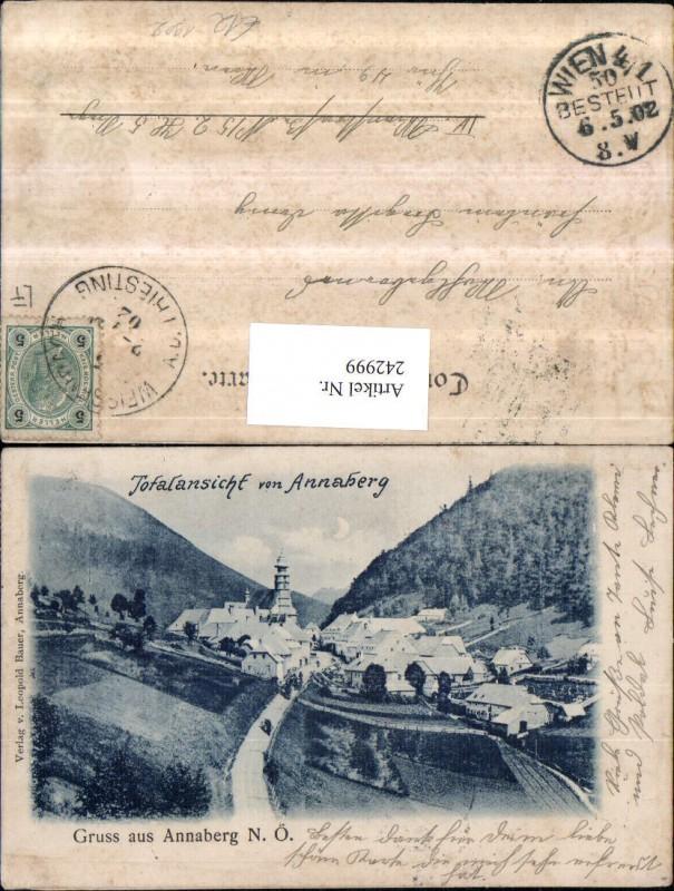 242999,Gruß aus Annaberg Totale v. Annaberg 1902