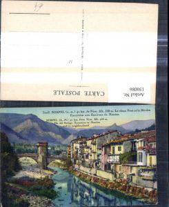 150086,Sospel de Nice Nizza Le vieux Pont et la Bevera Excursion aux Environs de Menton Brücke