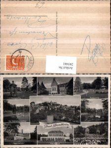 245441,Bad Bentheim Totale Burg Parkpartie Sanatorium Logierhaus Freilichtbühne Mehrbildkarte