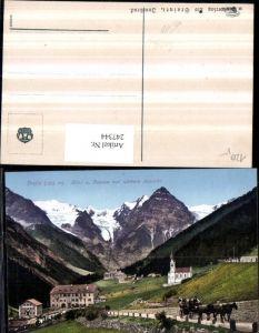 247344,Trentino Bolzano Trafoi Hotel u. Pension zur schönen Aussicht Kirche Kutsche b. Sulden