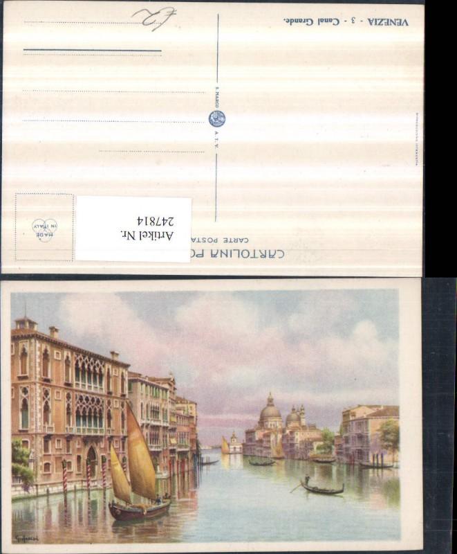 247814,Künstler AK G. Aroldi Veneto Venezia Venedig Canal Grande 0