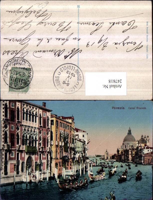 247818,Veneto Venezia Venedig Canal Grande Gondeln 0