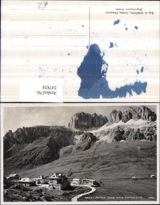 247824,Veneto Belluno Passo Pordoi Cima Pordoi Bergkulisse b. Livinallongo del Col di Lana 0