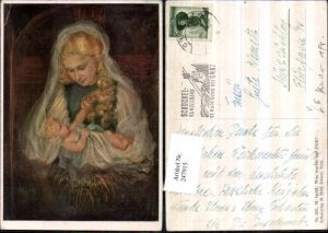 247915,Künstler AK M. Spötl 391 Was wartet auf dich Maria m. Jesuskind