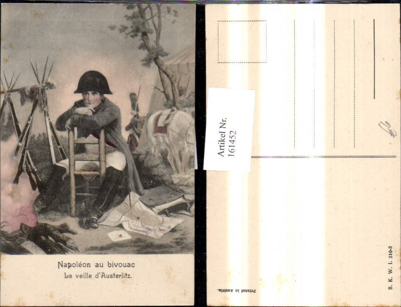161452,Napoleon au bicouac La veille d Austerlitz Uniform Bajonett