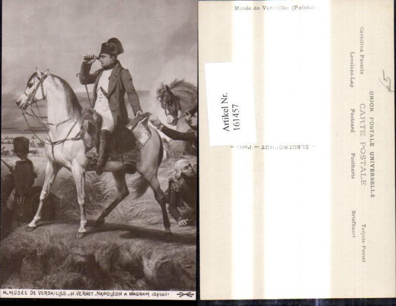 161457,Künstler Ak H. Vernet Napoleon a Wagram Pferd Uniform Schlachtfeld Fernglas