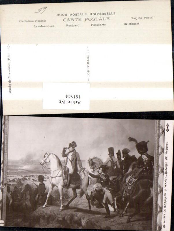 161544,Künstler Ak H. Vernet Bataille de Wagram Napoleon Pferd Fernglas