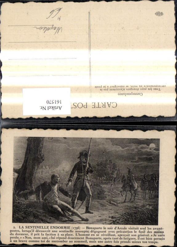 161570,Künstler Ak Napoleon Bonaparte La Sentinelle Endormie 1796