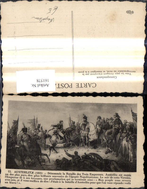 161578,Künstler Ak Napoleon Austerlitz Schlacht 1805