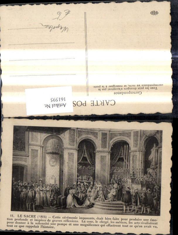161595,Künstler Ak Le Sacre Zeremonie Krönung Napoleon