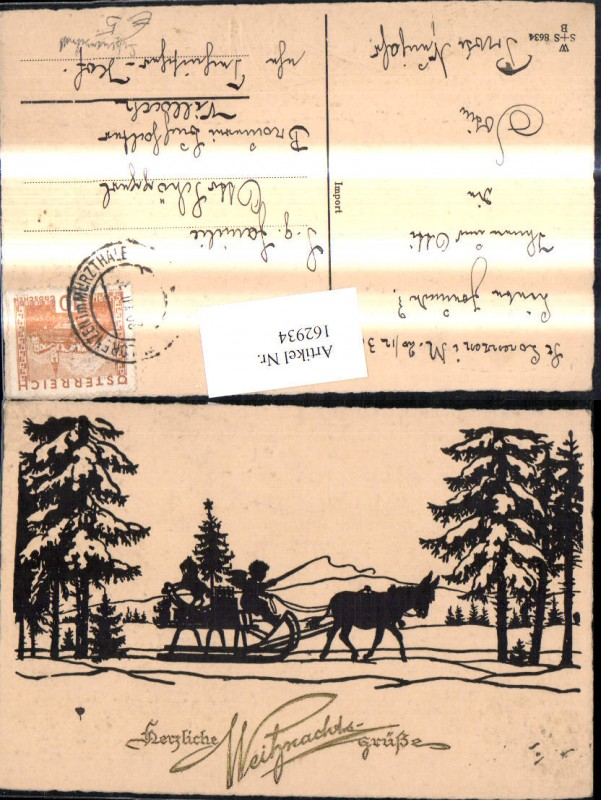 162934,Scherenschnitt Silhoutte Weihnachten Engel Eselschlitten Schlitten Schaukelpferd Weihnachtsbaum