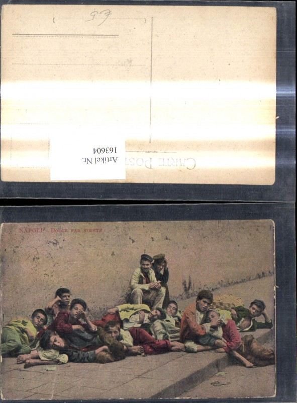 163604,Volkstypen Napoli Dolce far niente Italien Neapel Strassenkinder  0