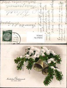 249826,Neujahr Tannenzweige Glocken