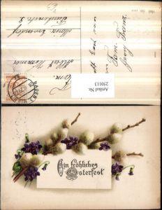 250113,Ostern Palmkätzchen Palmzweige Blumen Veilchen pub HWB 1601