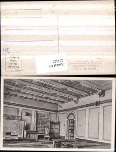 251220,Berndorf Volks- und Hauptschule Lehrzimmer im byzantinischen Stile Tafel Schulbänke