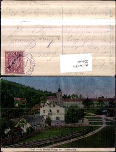252644,Lunakarte Gruß vom Mariahilfberg b. Gutenstein Gasthaus Josef Galler u. Kirche