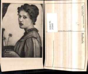 252669,Künstler AK Ferdinand Hodler Mädchenbildnis Portrait