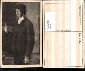 252670,Künstler AK Ferdinand Hodler Der Student Junge Portrait