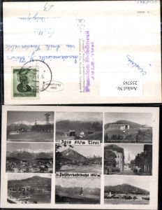 255765,Igls u. Patscherkofelbahn Totale Straßenansicht Seilbahn Mehrbildkarte