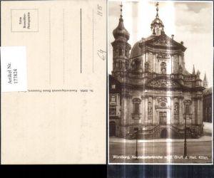 177824,Foto Ak Würzburg Neumünsterkirche m. d. Gruft d. Heil. Kilian Kirche