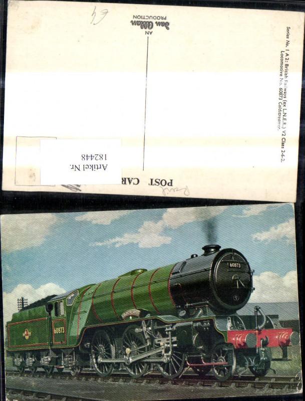 182448,Eisenbahn Zug Lokomotiven Train Dampflok 60873 Goldsteamer British Railways