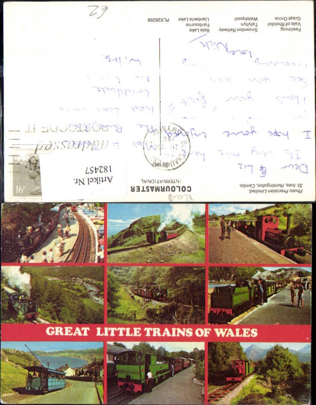 182457,Mehrbild Ak Eisenbahn Zug Lokomotiven Train Dampflok Great Little Trains of Wales