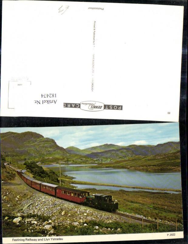 182474,Eisenbahn Zug Lokomotiven Train Dampflok Festiniog Railway and Llyn Ystradau