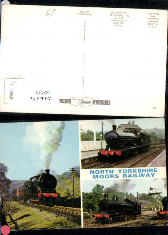 182478,Mehrbild Ak Eisenbahn Zug Lokomotiven Train Dampflok North Yorkshire Moors Railway