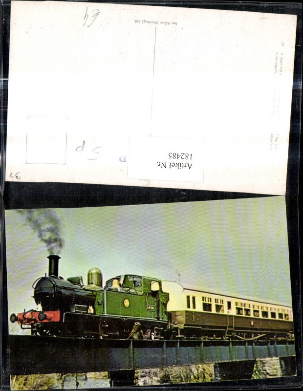 182485,Eisenbahn Zug Lokomotiven Train Dampflok 1420 Dart Valley Railway Brücke