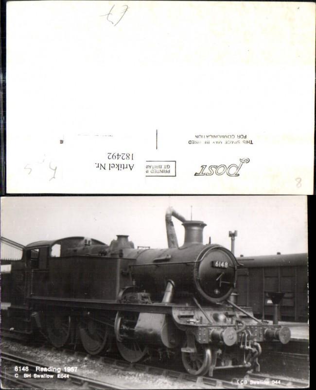 182492,Foto Ak Eisenbahn Zug Lokomotiven Train Dampflok 6148 Reading 1957