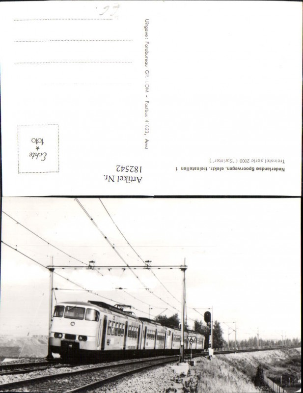 182542,Foto Ak Eisenbahn Zug Lokomotiven Train Nederlands Spoorwegen Sprinter 2000