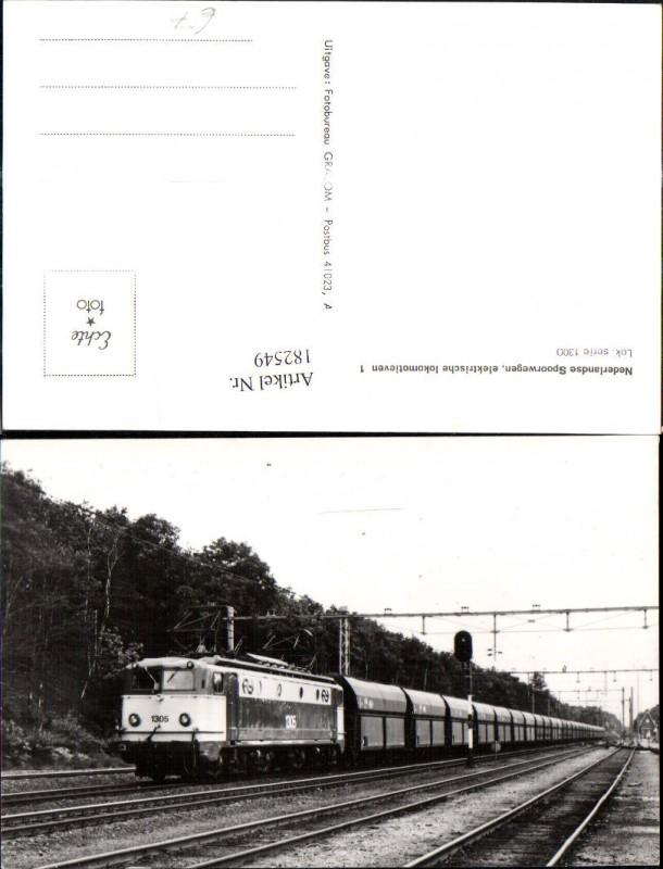 182549,Foto Ak Eisenbahn Zug Lokomotiven Train Nederlands Spoorwegen 1300