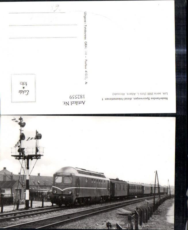 182559,Foto Ak Eisenbahn Zug Lokomotiven Train Nederlands Spoorwegen 2600 Helmond
