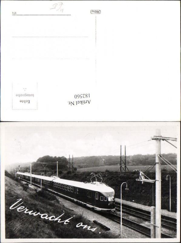 182560,Foto Ak Eisenbahn Zug Lokomotiven Train Verwacht ons