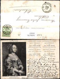 183657,Künstler Ak Ant. Van Dyck Maria Ruten Femme de Van Dyck Frau Portrait Antwerpen Kunst