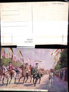187626,Künstler Ak C. Benesch Kaiser Huldigungs Festzug 1908 Adel Monarchie pub B.K.W.I. 895-2