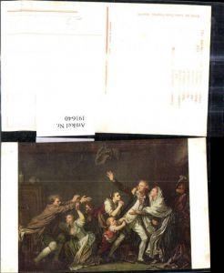 191640,Künstler Ak Jean Baptiste Greuze Vaterliche Verfluchung Familie Streit Fluch